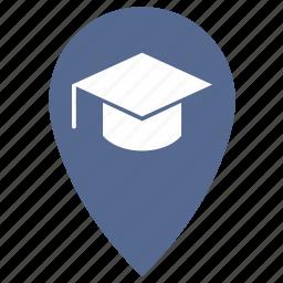 geo, map, point, pointer, study icon