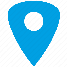 blue, geo, gps, location, place, point, triangle icon
