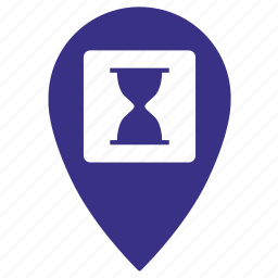 gps, load, location, map, point, time, wait icon