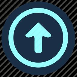 arrow, forward, geo, go, position, top icon