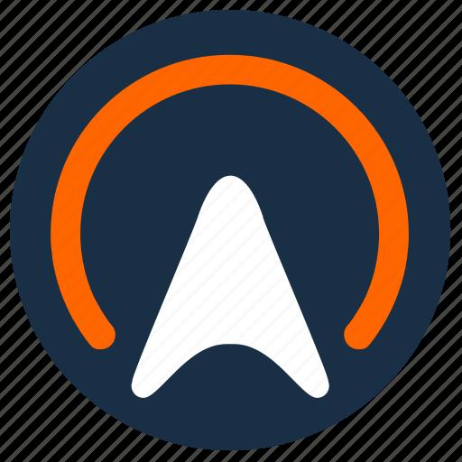 area, cursor, geo, orange, point, pointer, position icon
