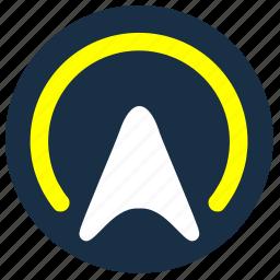 area, cursor, geo, point, pointer, position, yellow icon
