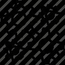 gears, industrial symbol, maintenance, mechanical, settings icon