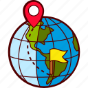 destination, flag, global, pin, route, travel, world icon