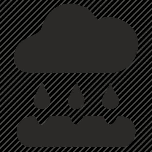 cloud, earth, geology, rain icon