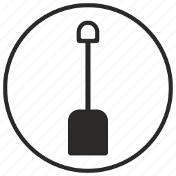 earth, geology, round, shovel icon