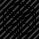 hollow, box, geometric, cube, shape