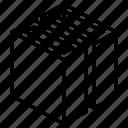 slot, geometric, cube, shape, box, slice