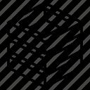 triple, hollow, stack, geometric, cube, shape, box
