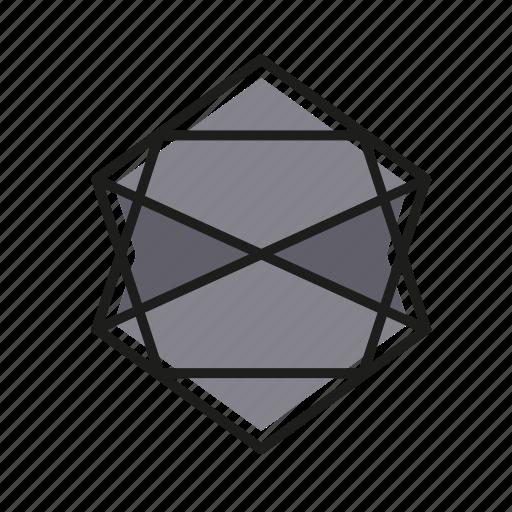 abstract, engineering, geometric, illustration, line icon