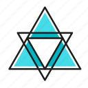 engineering, geometric, illustration, line, triangles icon