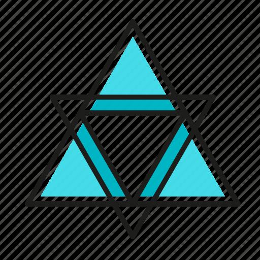 engineering, geometric, illustration, line, triangles icon
