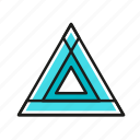 engineering, geometric, illustration, line, triangle icon