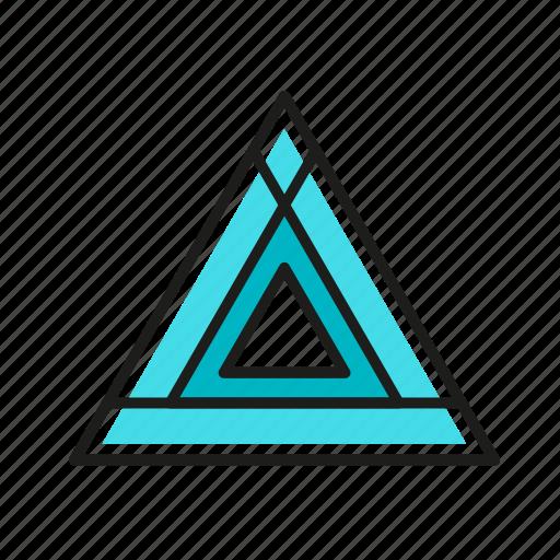 engineering, geometric, illustration, line, triangle icon