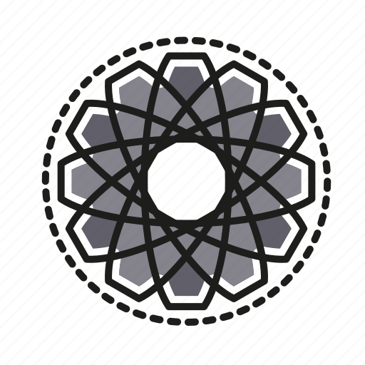 engineering, geometric, illustration, line, symetrical icon