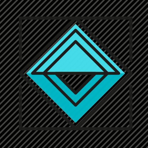 engineering, eye, geometric, illustration, line icon