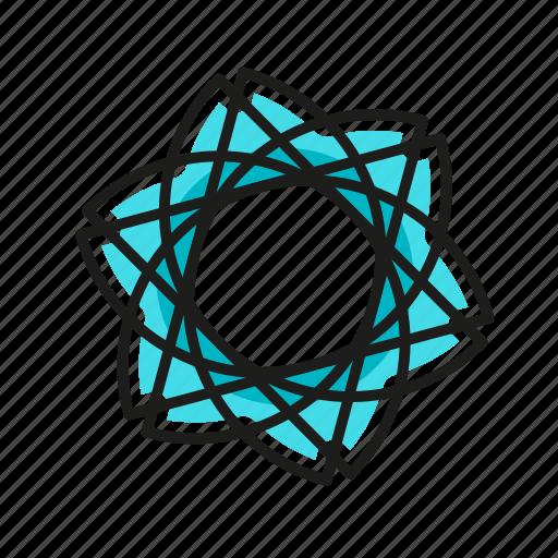 engineering, flower, geometric, illustration, line icon