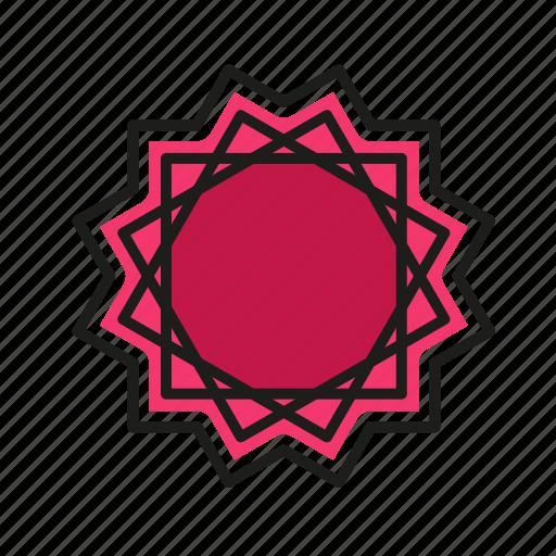 engineering, geometric, illustration, line, star icon