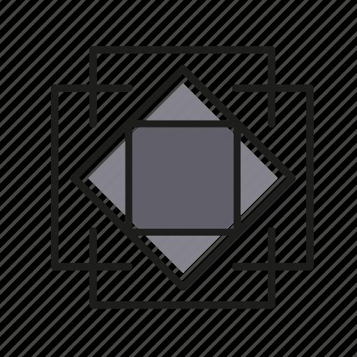 deco, engineering, geometric, illustration, line icon