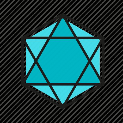engineering, geometric, hexagon, illustration, line icon