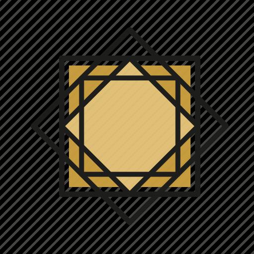 engineering, geometric, illustration, line, square icon