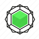 engineering, gem, geometric, illustration, line icon