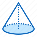 3d, cone, figure, geometry, shape icon