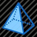 pyramid, shape, geometry, 3d