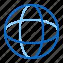 connection, geometry, globe, round, sphere icon