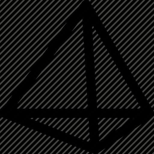 design, dimension, polygon, pyramid, shape, structure icon