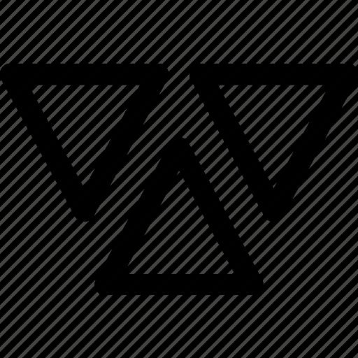 decor, design, geometric, parttern, shapes, triangles icon