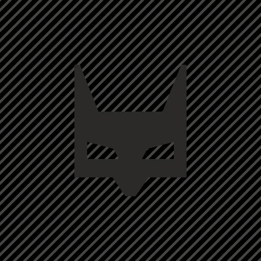 bat, batman, face, mask icon