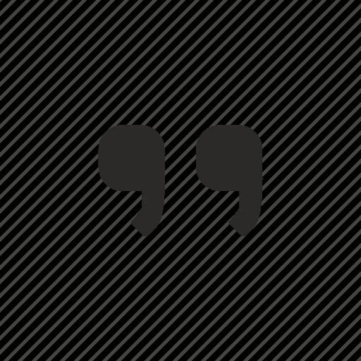 comma, excerpt, quote icon