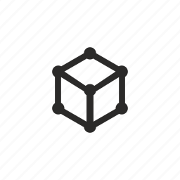 cube, dimention, figure, geometry, structure icon