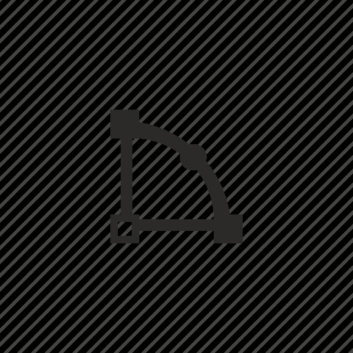 curve, figure, object, transform icon