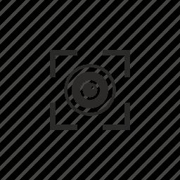 biometry, detect, eye, scan icon