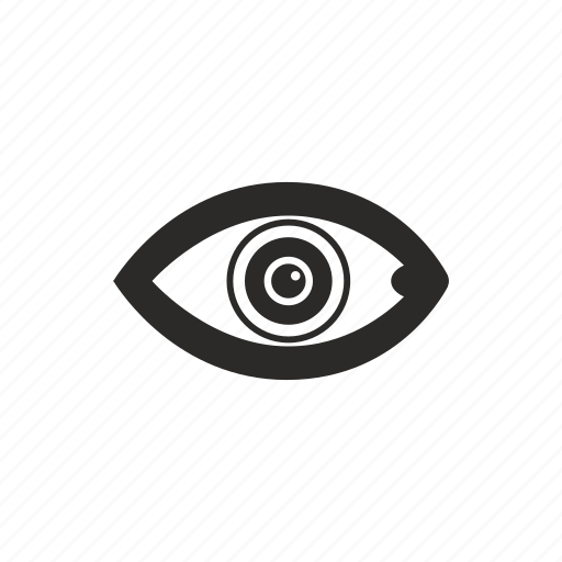 biometry, eye, eyeball, pupil icon