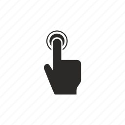 biometry, finger, person, scanner icon