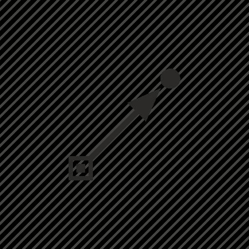 draw, gradient, instrument, tool icon