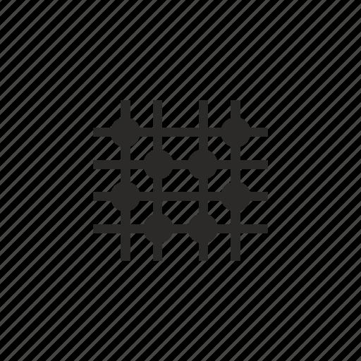 dot, grid, image, transform icon