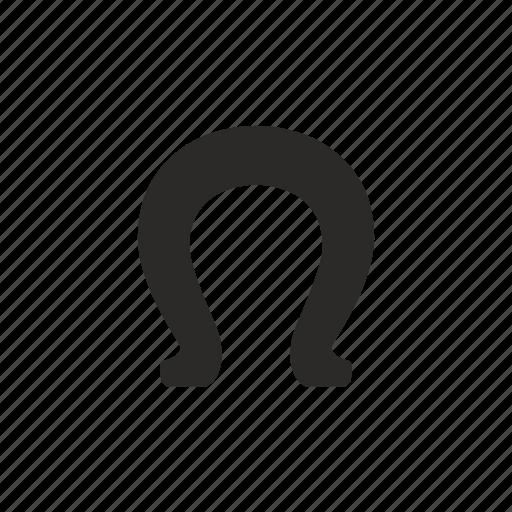 horseshoe, lucky, omega icon