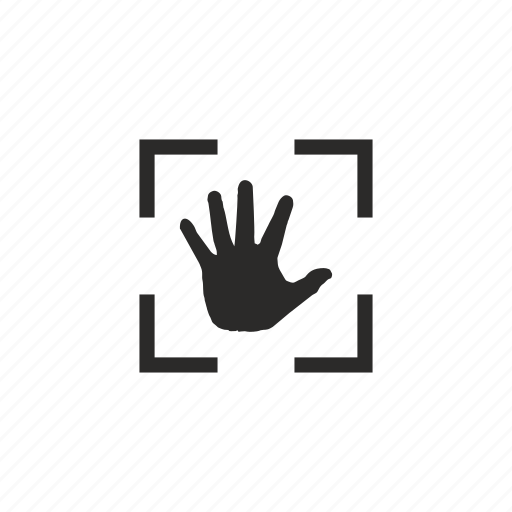 biometry, hand, identity, scan, scanner icon