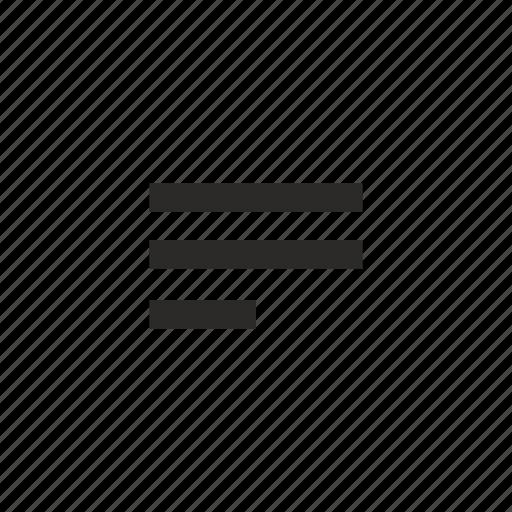 align, edit, left, text icon