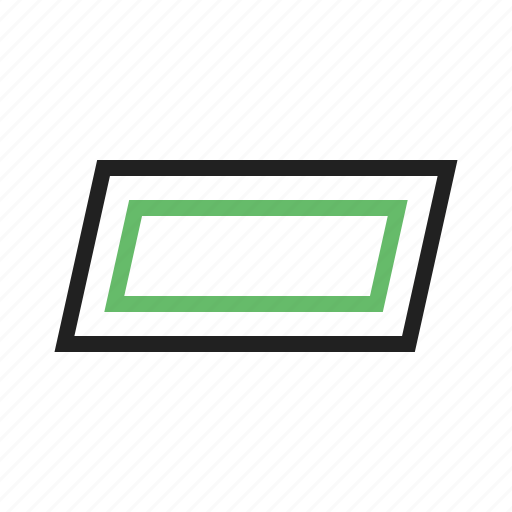 abstract, design, parallelogram, shape, square icon