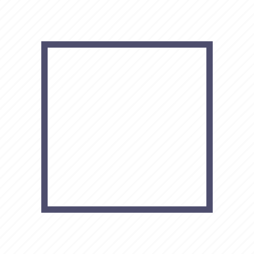cube, figure, geometry, square, stop icon