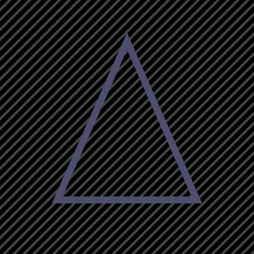 cone, figure, geometry, pyramid, triangle icon
