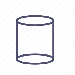 cylinder, figure, geometry, pillar, pipe icon