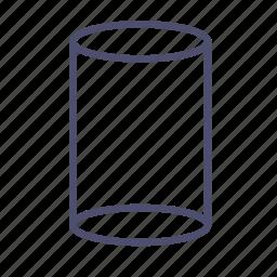 cylinder, figure, geometry, pillar, pipe icon