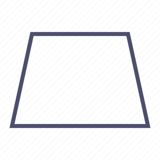 figure, geometry, parallelogram, polygon, trapeze icon
