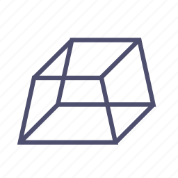figure, geometry, ingot, polygon, prism, pyramid, trapeze icon